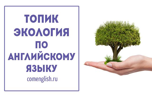 """Топик """"Экология"""" по английскому языку. Сочинение """"Защита окружающей среды"""" на английском"""